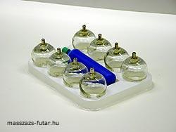 Vákumos üveg köpölyözőkészlet 8 db