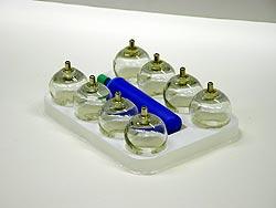Vákumos üveg köpölyözőkészlet 12 db (R)